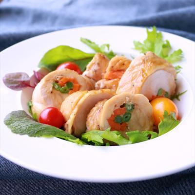 鮮やか綺麗 鶏むね肉の野菜ロール