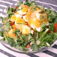 豆腐とパクチーのサラダ ヤムパクチー