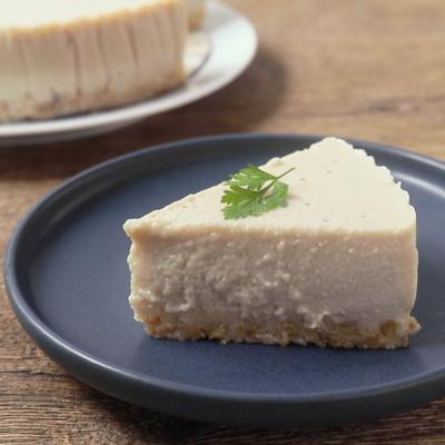 絹豆腐で作るほうじ茶ケーキ