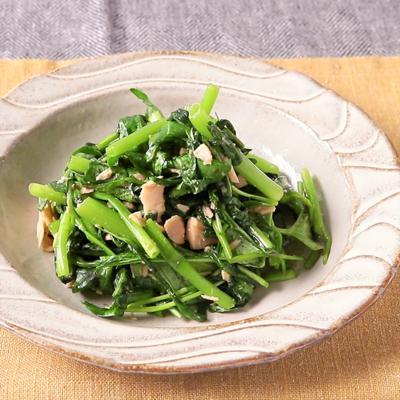 電子レンジで簡単 空心菜のツナ和え