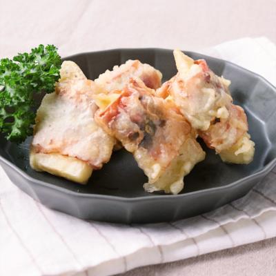 タケノコのベーコン天ぷら