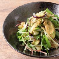 香味野菜たっぷり ナスと水菜のサラダ