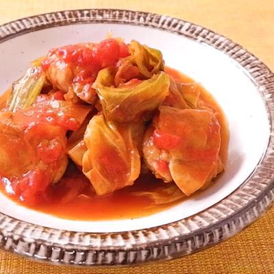 トマト缶でつくる キャベツと鶏肉のトマト煮