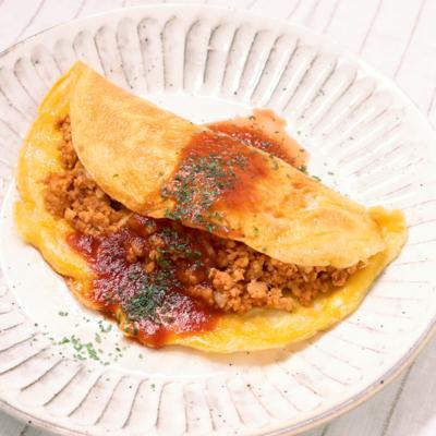 豆腐とえのきのご飯でオムライス