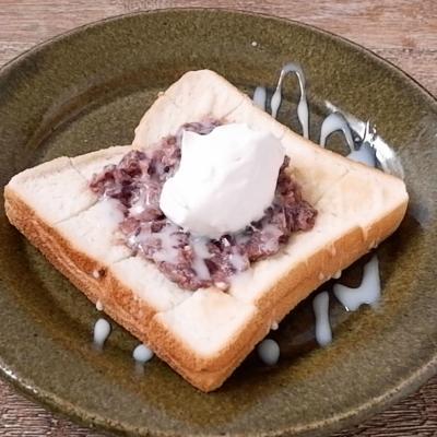 ミルキーあんバタートースト