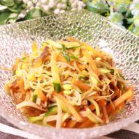 レンジで簡単!豆もやしの中華風サラダ