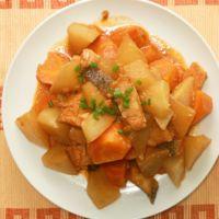 韓国風たらと野菜の煮物