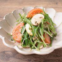 水菜とトマトの簡単和え
