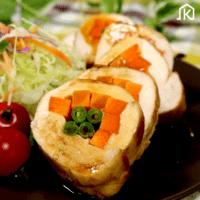 彩鮮やか\n鶏胸肉の野菜ロール