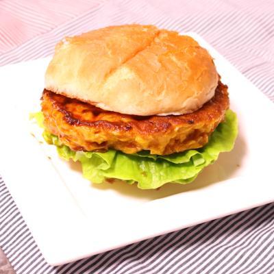 肉なし!麩で作るテリヤキバーガー