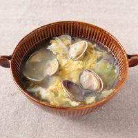 生姜香る あさりと卵のスープ