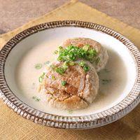 高野豆腐で作る お味噌でまろやかスープハンバーグ