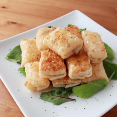 餃子の皮で!3種のチーズ包み