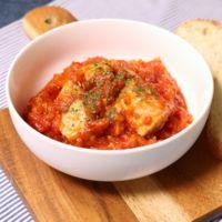 カツオのガーリックトマト煮