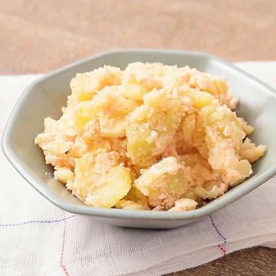 レンジで簡単 材料3つで明太クリームチーズポテト
