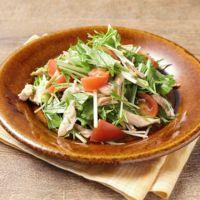 鶏ささみと水菜のバルサミコサラダ