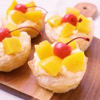 黄桃のカスタードパイ