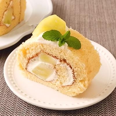 ごろごろメロンロールケーキ