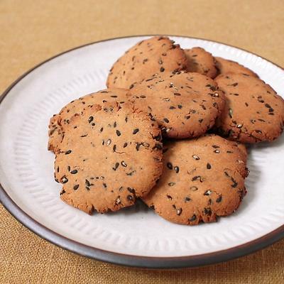 卵 乳製品不使用 黒ごまクッキー