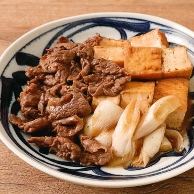 味しみ厚揚げ肉豆腐