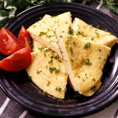 ふんわりおいしい 豆腐のめんたいチーズオムレツ