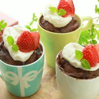 レンジで簡単 ホワイトチョコレートのカップケーキ