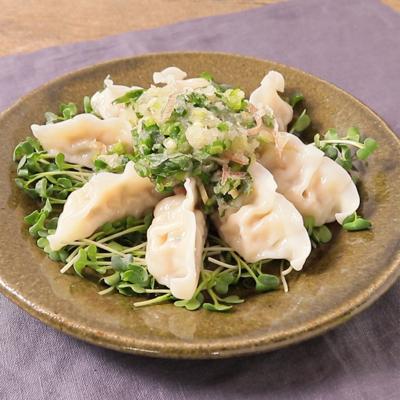 冷凍餃子サラダ