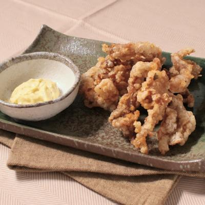 マヨ柚子胡椒で 鶏せせりのから揚げ