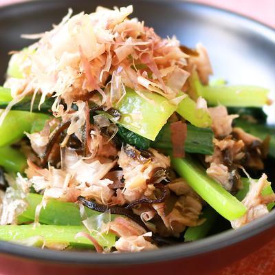 簡単副菜 ツナと小松菜の和え物