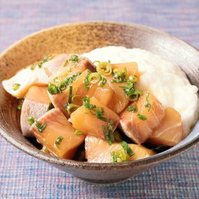 大和芋とブリのづけ丼
