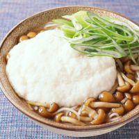 大和芋となめこのにゅう麺
