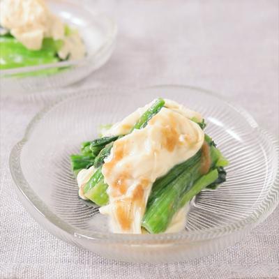 小松菜と生湯葉の梅しょうゆ和え