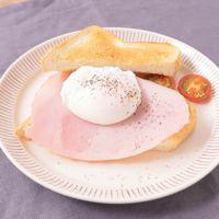 朝食に 簡単ポーチドエッグトースト
