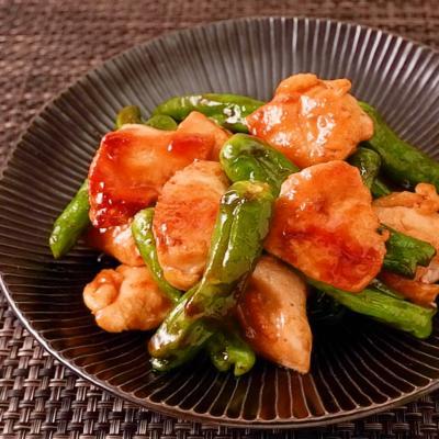 焼肉のタレで簡単 鶏むねししとう炒め