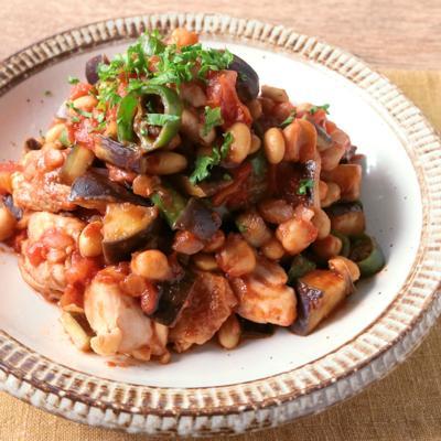 青唐辛子でピリ辛 ごろごろ豆のラタトゥイユ風