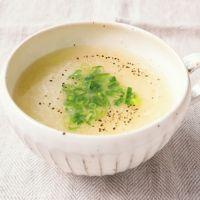 電子レンジで出来る 長いものとろとろスープ