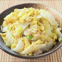 レンジで5分 白菜とツナのとろとろ卵とじ丼