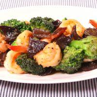 海老とブロッコリーの中華風炒め