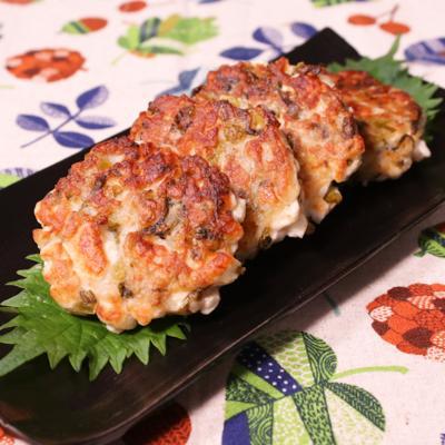 高菜はんぺんのふわふわ肉おやき