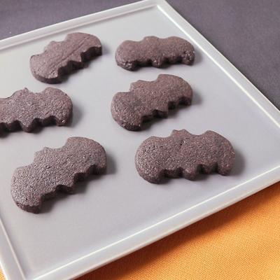 ハッピーハロウィン こうもりクッキー