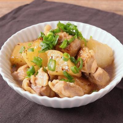 大根と鶏もも肉のオイスターソース煮