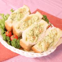 ぷりぷり海老のアボマヨサンドイッチ