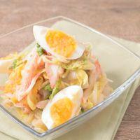 白菜と卵のカニカマごまみそサラダ