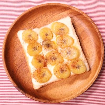 マスカルポーネとバナナのラムソテートースト
