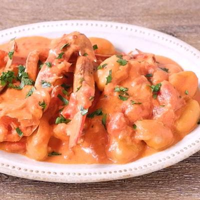 ワタリガニのトマトソースニョッキ