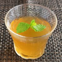 ほんのり甘い緑茶ゼリー