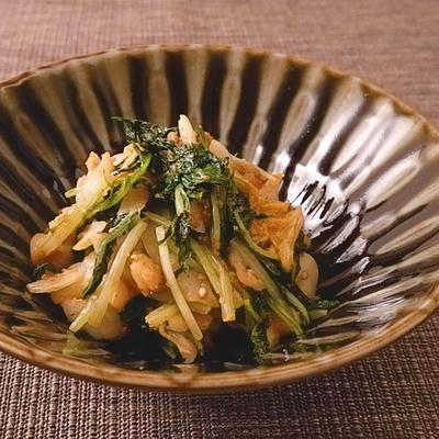 白菜と水菜の胡麻和え