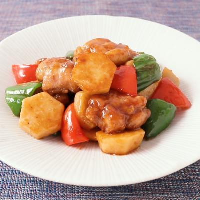 鶏肉と里芋のガリバタ焼き