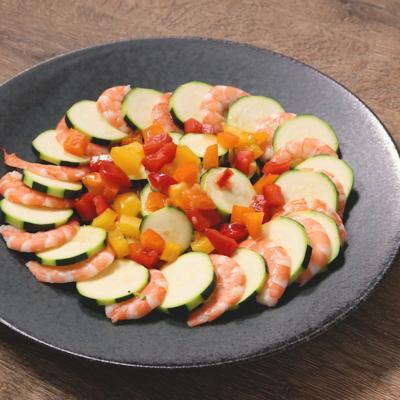 エビとズッキーニのエスニック風サラダ