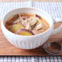 舞茸とサツマイモのココナッツトムヤムスープ